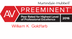 William K Goldfarb AV Preeminent by Martindale-Hubbell