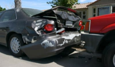 vehicle struck by a truck